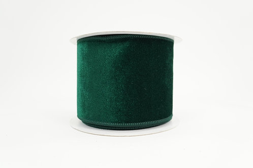 ELEGANT VELVET RIBBON 4X10 HUNTER GREEN