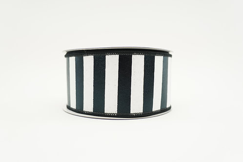 RIBBON VERTICAL STRIPES 2.5X10 BLACK,WHITE