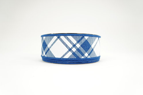 DIAMOND PATTERN RIBBON 1.5X10 BLUE,WHITE