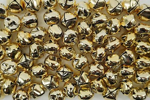 JINGLE BELLS 20MM 75PK GOLD