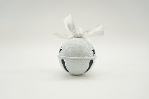 JINGLE BELL 85MM FROSTED WHITE