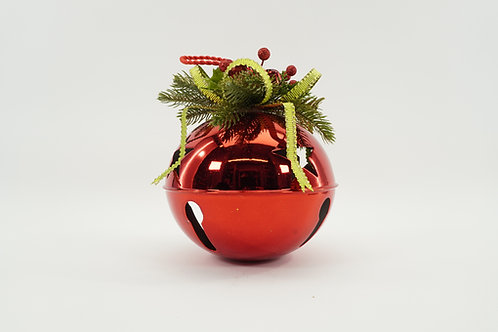 JINGLE BELL 200MM 9IN TALL WITH DECOR RED