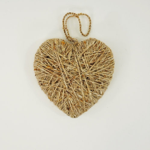 HEART 5IN SISAL NATURAL