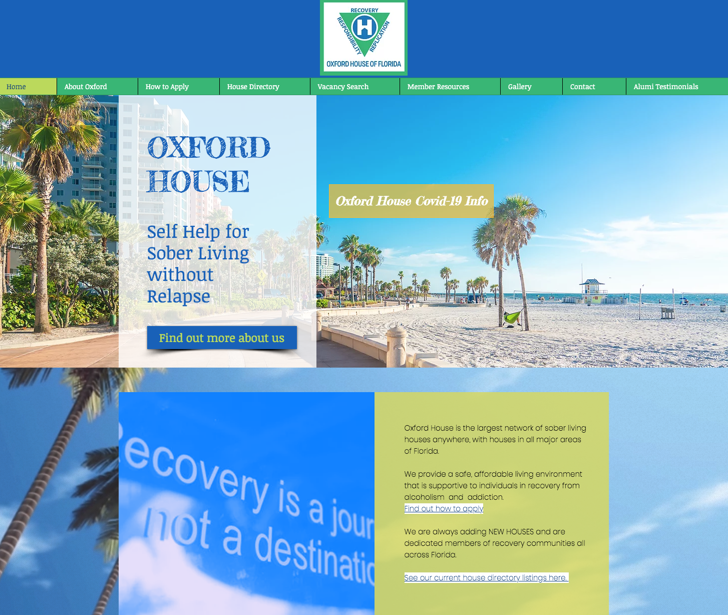 Oxford Houses of Florida Website Design