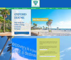 Oxford Houses of Florida Website Design