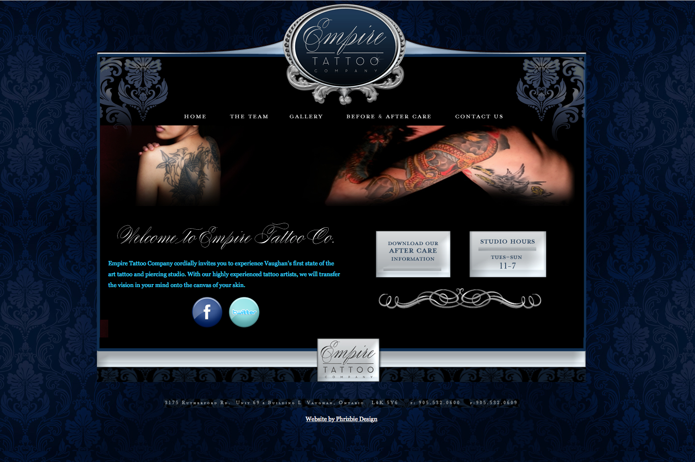 Empire Tattoo Website Design