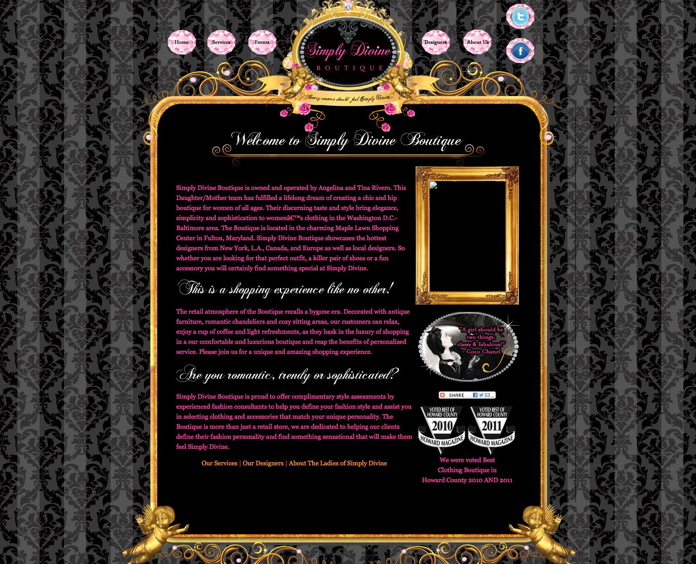 Glamorous Website Design