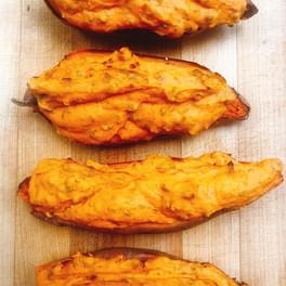 Local twice baked sweet potato