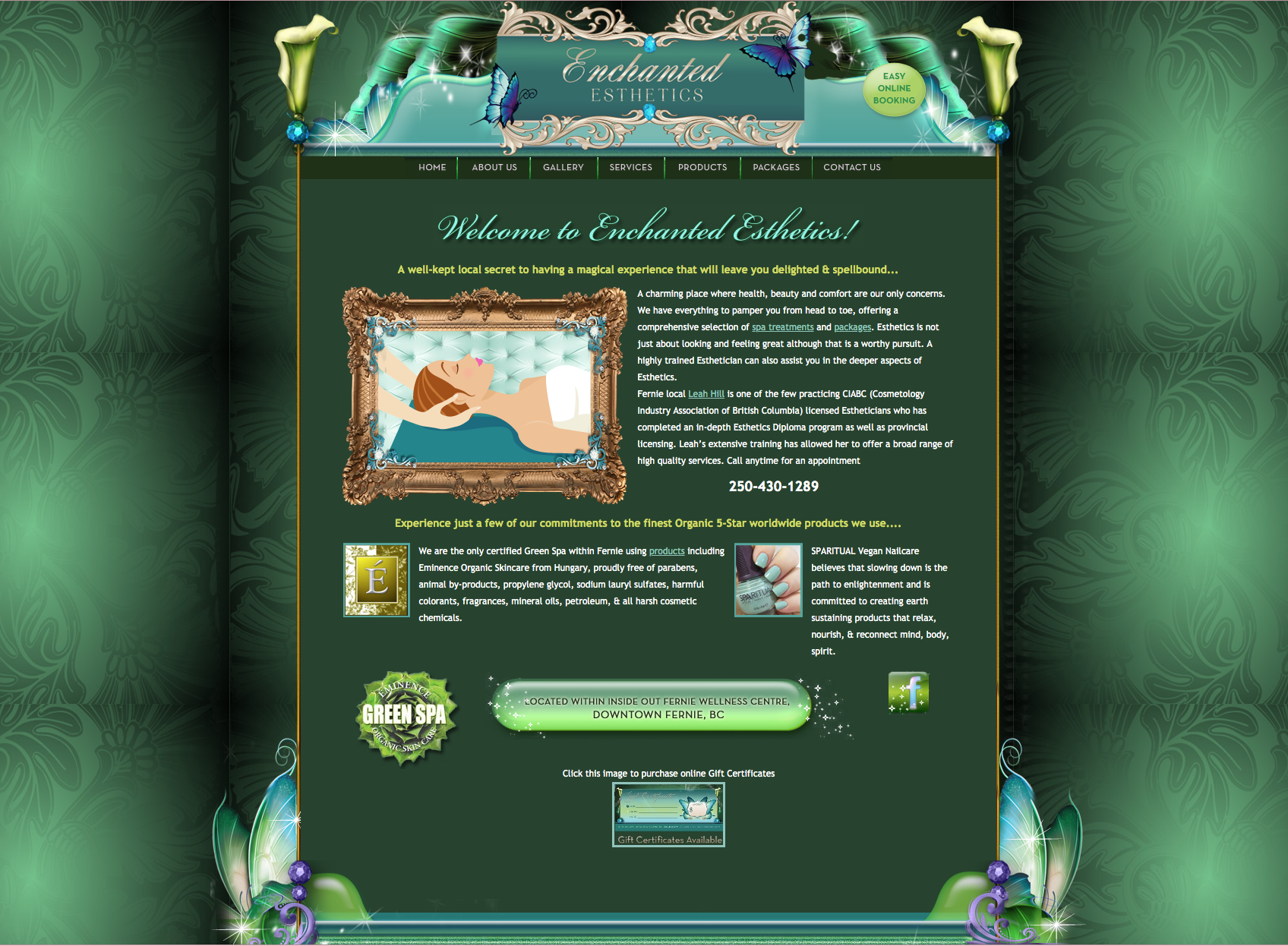 Enchanted Esthetics Website Design