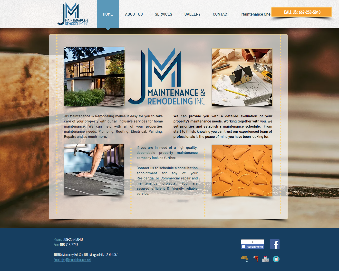 J & M Remodeling Website Design
