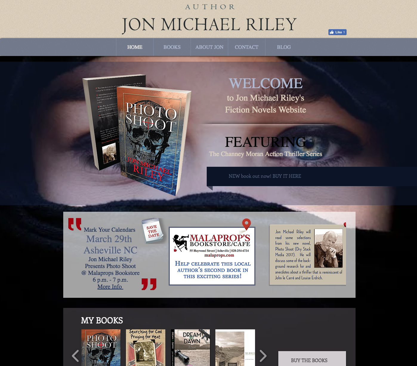 Jon Michael Riley Novels Website Design
