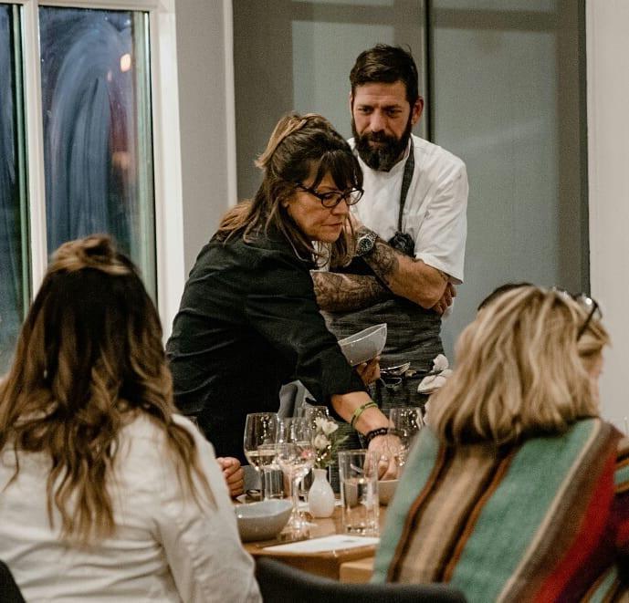Chef Dave Krog & Barbara Farmer