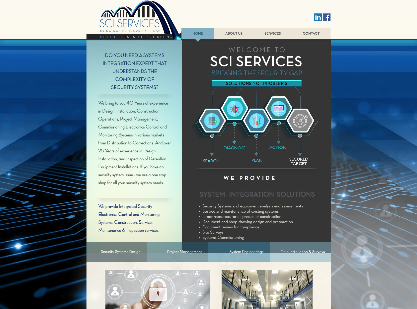 SCI Services website design
