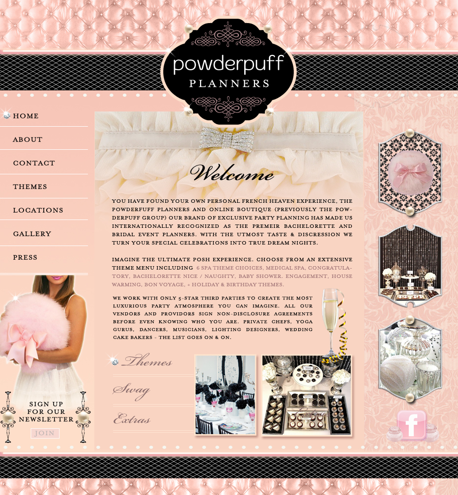 French Boudoir Website Design