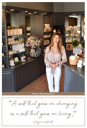 Owner Kym Thompson, elevate spa