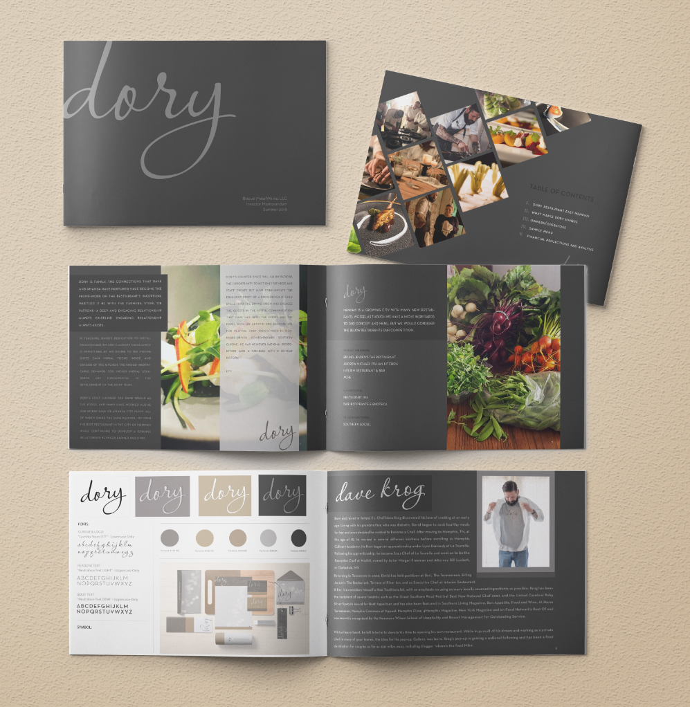 Investment Catalog Design