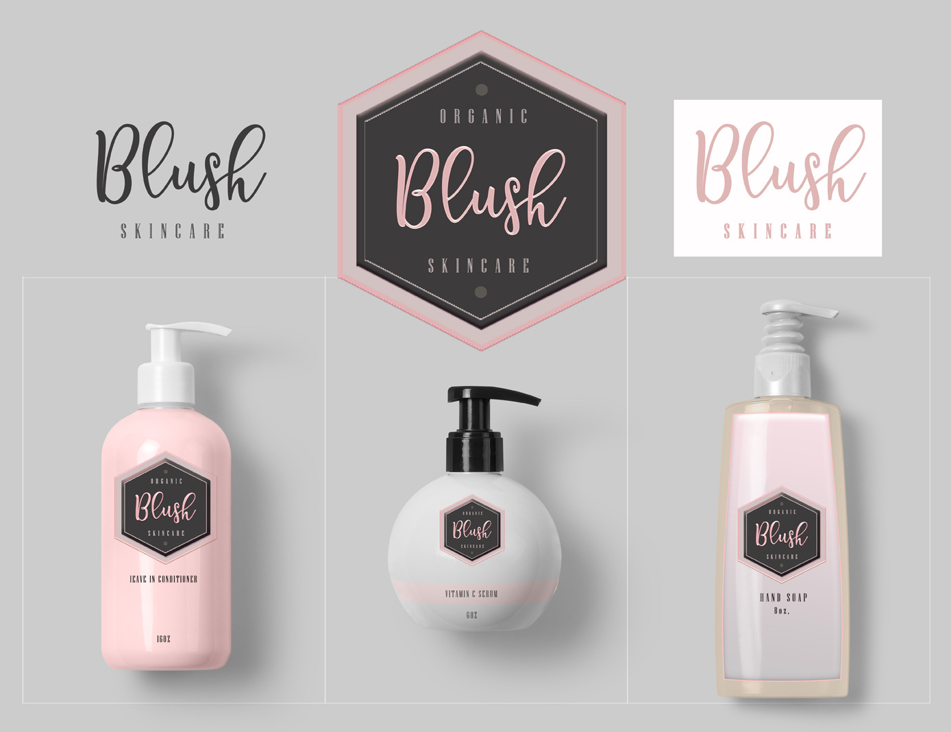 Blush Cosmetics Logo Design