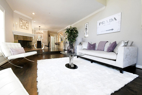 Living Room Home Staging by Pink Door Interiors