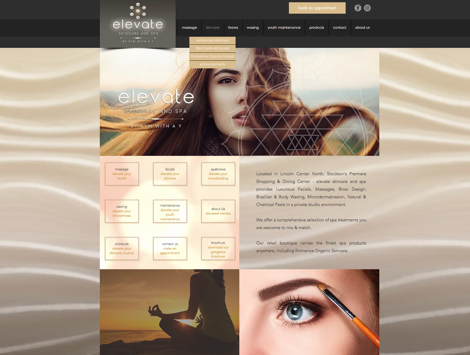 Elevate Spa Website Design