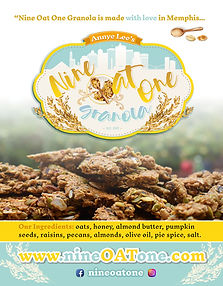 Nine Oat One Granola made in Memphis
