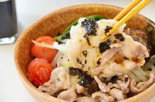 海苔ドレッシングと蒸し野菜