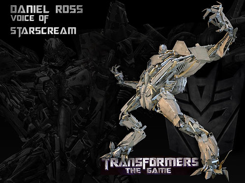 Transformers: Starscream Print B w/Autograph
