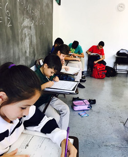 After School kids studying