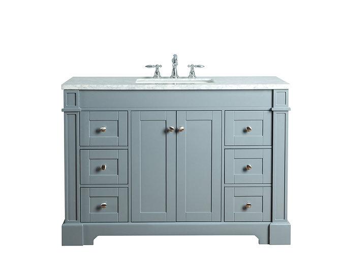 "Seine 48"" Grey Single Sink Vanity"