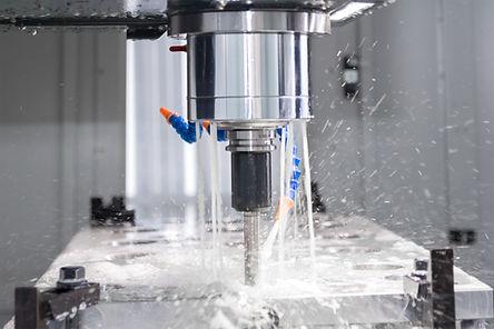 High precision CNC machining center work