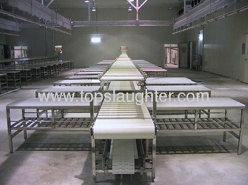 Slaughterhouse equipment Deboning cutting conveyor