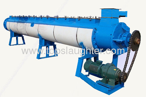 Rendering plant for poultry waste cooking machine