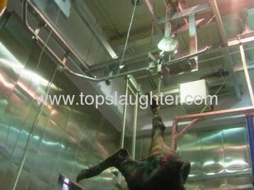 Slaughter equipment hoist machine