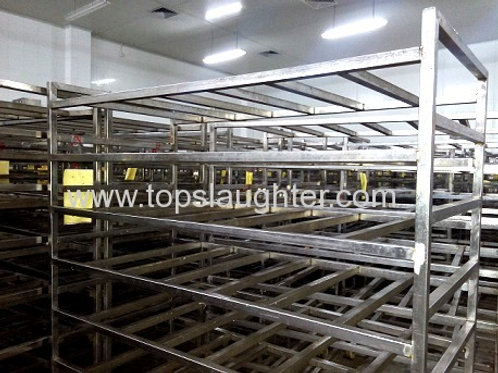 Poultry processing equipment meat trolley