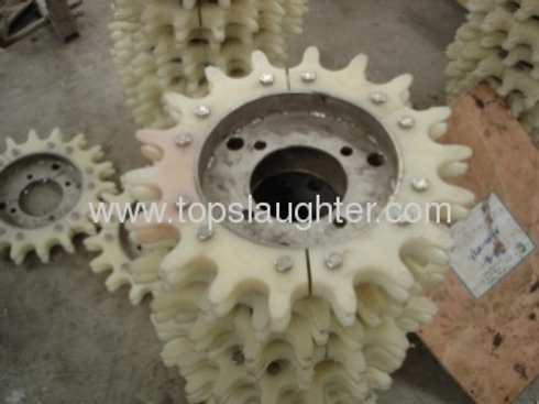Poultry abattoir equipment spare parts stainless steel corner wheel