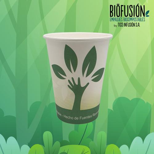 vaso impreso generico papel compostable.