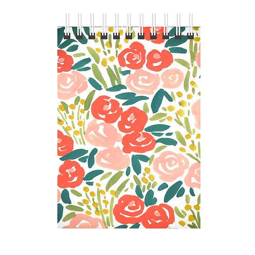 Caderno FLORES - Tamanho: 21x14cm