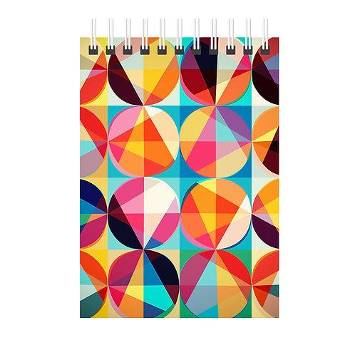 Caderno CORES - Tamanho: 21x14cm