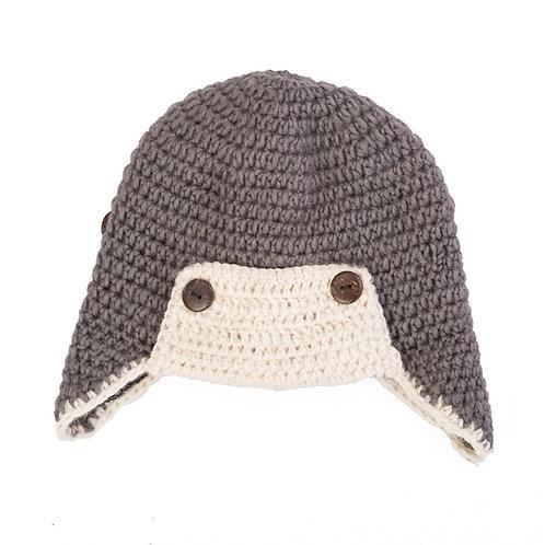 Aviator Helmet Hat Grey