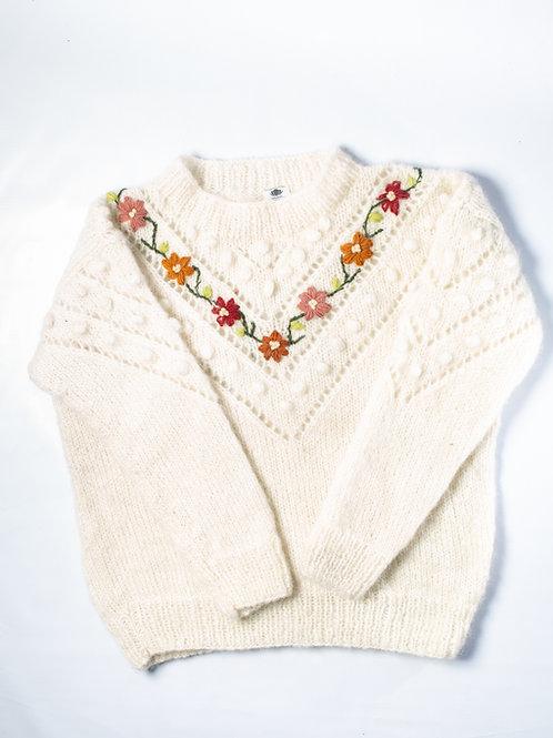 Mohair Flower Sweater