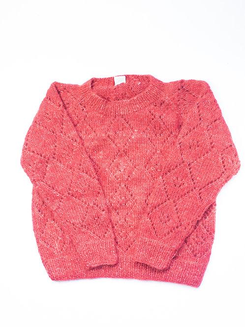 Mohair Diamond Peephole Sweater