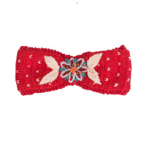 Merino Metok Headband Red