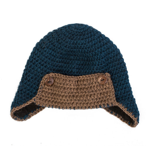 Aviator Helmet Hat Teal