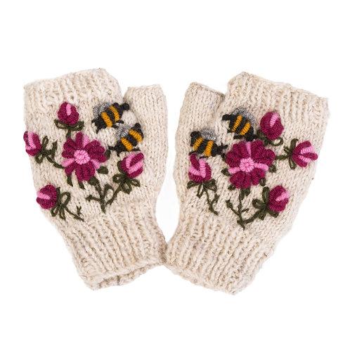 Bees & Flowers Hand-warmer, Oatmeal
