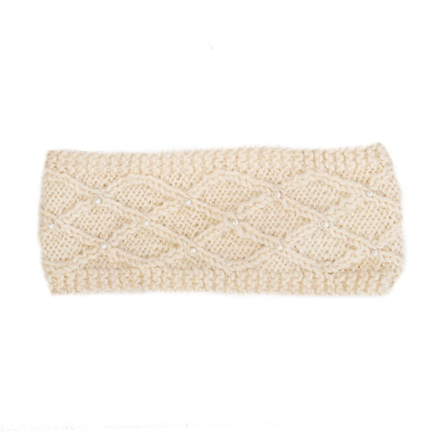 Lattice Pearl Headband Cream