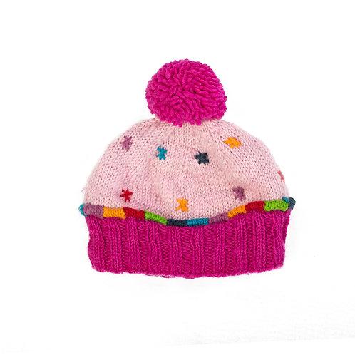Cupcake Beanie, Pink