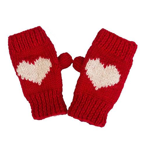 Heart Motif Hand-warmer ,Red