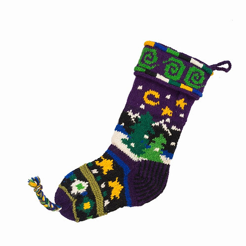 Starry Night Stocking Eggplant