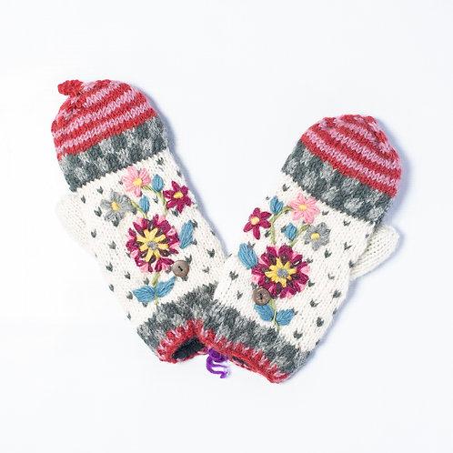 Purni Flower Convertible Gloves