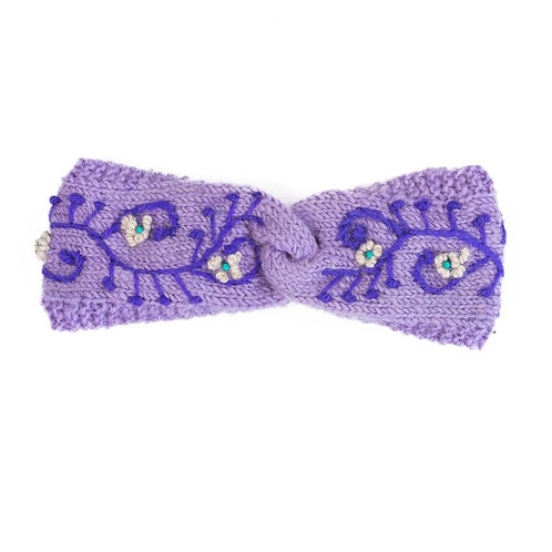 Flower Turbin Headband Lavender