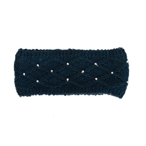 Lattice Pearl Headband Black